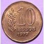 Lote De 4 Monedas De 10 Pesos Ley 18.188 (1977)