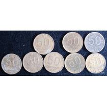 50 Centavos 1986 87 88 Se Vende Lote De 8 Monedas