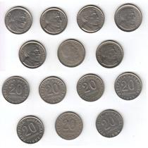 Argentina, Serie De 7 Monedas De 20 Centavos, 1950-1956
