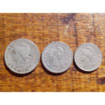 Monedas Antiguas Argentinas Año 1928 Niquel 20, 10 Y 5 Ctvos