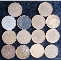 10 Centavos 1986 88 Se Vende Lote De 14 Monedas