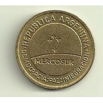 Moneda Argentina 50 Centavos Mercosur Año 1998 Sin Circular