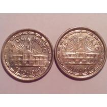 1 Peso 1960 - 1 Y 2 Líneas Sobre El Reloj
