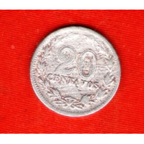 Moneda Antigua Argentina 20 Ctvos.1897
