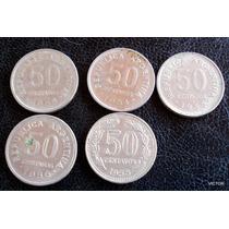 50 Centavos 1953 54 55 56 58 Se Vende El Lote
