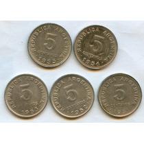 Argentina Lote Monedas 5 Ctvos. San Martin