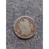 Moneda Antigua Argentina Niquel Año 1914 20 Centavos