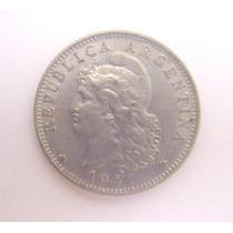 Antigua Moneda Cupro Niquel Año 1942 - 20 Ctvos.