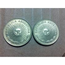 Monedas Antiguas Argentinas 10 Y 5 Pesos 1976
