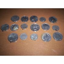 15 Monedas Antiguas Argentinas Perforadas + 1 De Brasil.