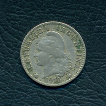 Moneda Argentina 1915 5 Centavos Cj#146