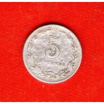 Moneda Antigua Argentina 5 Ctvos.1898