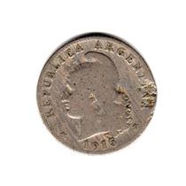 Moneda Argentina 20 Centavos 1915 Niquel
