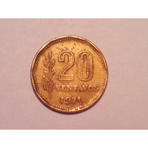 20 Centavos 1971 - Fecha Chorreada