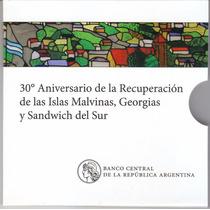 Argentina. 2 Pesos. Blister 30 Aniversario De Malvinas.