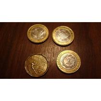 Lote 4 Monedas Argentinas Malvinas 2012, 50 Pesos Mundial 78