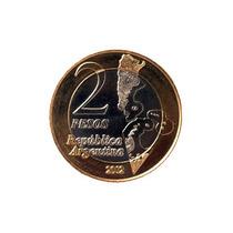 Moneda 2 Pesos, Conmemorativa Malvinas, 2012, Sin Circular