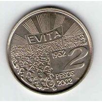 Argentina 2 Pesos Evita 50 Aniversario Fallecimiento 2002