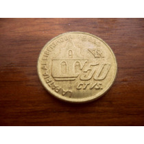 Moneda Argentina Conmemorativa Año 2000 50 Centavos S.martin