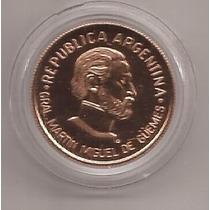 Argentina Moneda De Oro Agotada Guemes Año 2000 !!