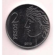Moneda 2 Pesos 2010 75º Aniversario Creacion Bcra Sin Circ