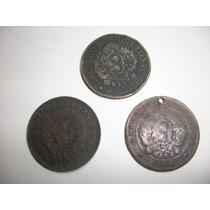 Monedas Argentinas De 0,02 Ctv. De 1884 - 1890 Y 1894 -