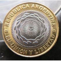 Argentina Moneda De 2 Pesos 2010 Variante Muy Escasa.mirala!