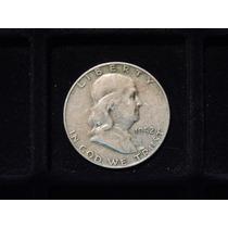 Moneda Medio Dolar Plata 900 Estados U. Eeuu 1952 D Half 1/2