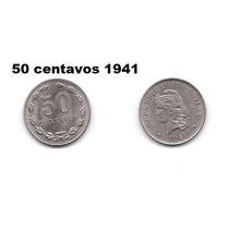 Moneda 50 Centavos 1941