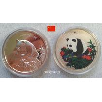 Mercorius- China Onza Panda Plata+ Oz. Pintada Réplicas 1999