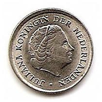 Holanda Moneda De Niquel De 10 Cts. , Año 1966
