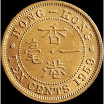 Chinacoins / Hong Kong 10 Cents 1959 Km#28 Elizabeth ||