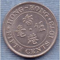 Hong Kong 50 Cents 1978 * Colonia Inglesa * Elizabeth Ii *