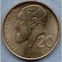 Chipre 20 Cents 2004 * Zenon De Citio *