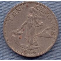 Filipinas 10 Centavos 1964 * Republica *