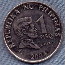 Filipinas 1 Piso 2004 * Jose Rizal * Escudo *