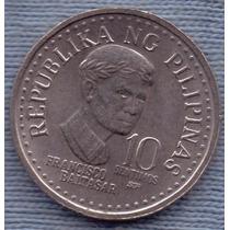 Filipinas 10 Sentimos 1982 * Francisco Baltasar * Escudo *