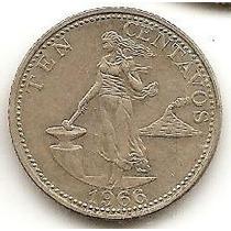 Filipinas 10 Centavos 1966 * Republica *