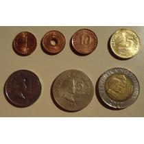 Lote De 7 Monedas De Filipinas - Set Completo - 1 Bimetalica