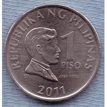 Filipinas 1 Piso 2011 * Jose Rizal * Escudo *