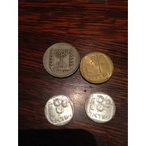 Monedas De Israel X4 Unidades