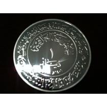 1 Dinar Irak 1980 Moneda Proof. Plata 900 - 30,5 G. Estuche