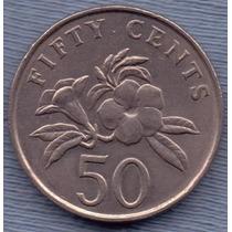 Singapur 10 Cents 1987 * Flores *