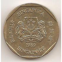 Singapur, Dollar, 1989. Casi Sin Circular