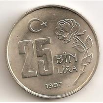 Turquia, 25 Bin Lira, 1997. Sin Circular