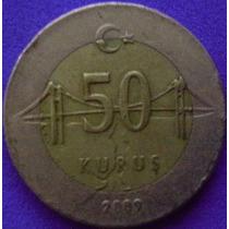 Spg - Turquia 50 Kurus 2009 ( Bimetalica ).