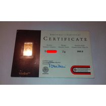 Lingote De Oro 2g 999.9 Ubs Suizo Certificado