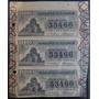 Boletos De Loteria Nacional De 1921.tres Quintos.