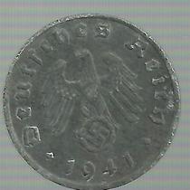 Alemania 1 Pfenning 1941 J Zinc Epoca Nazi