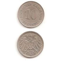 Moneda Alemania 10 Pfennig 1912 D